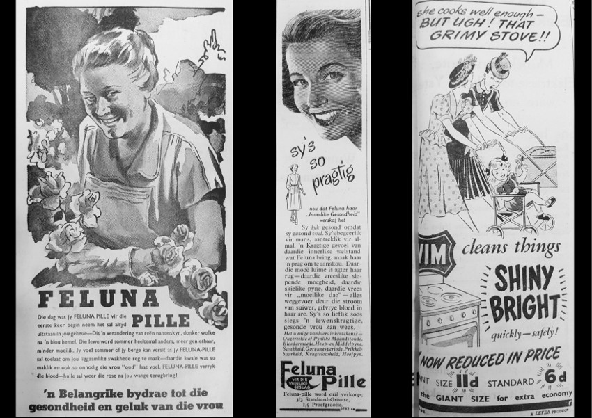 Women newspapers 1950s.