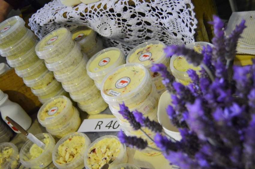 Jacolien's stall at the Pure Boland Market.