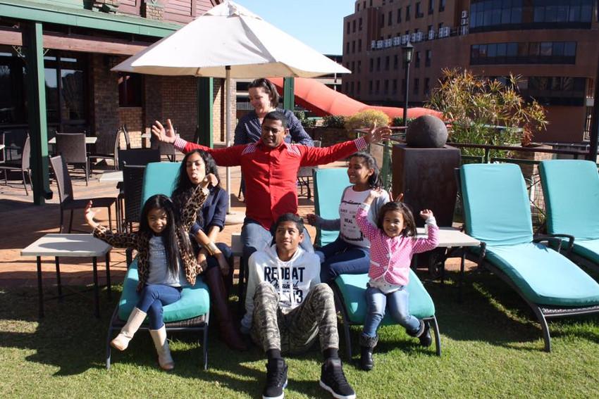 Granville and Priscilla with their children: Robin, Jesse, Toni, Alex and Ilya.